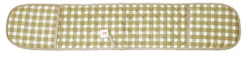 CREAM COLOUR CHECK DOUBLE OVEN GLOVE QUILTED 100% COTTON